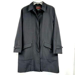 Vintage Ralph Lauren Black Trench Coat M
